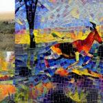 Antylopa w stylu mozaiki